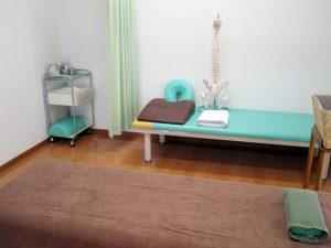 静かで清潔な治療室